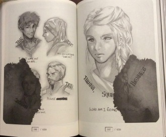 Characters from Gemina drawn by Marie Lu