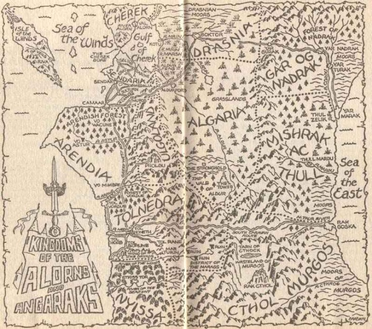 Eddings - Belgariad 1 map - Prologue The Kingdoms