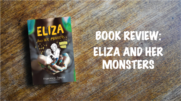 Book review banner: Eliza and her Monsters