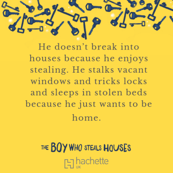 Quote: He doesn't break into houses because he enjoys stealing. He stalks vacant windows and tricks locks and sleeps in stolen beds because he just wants to be home.