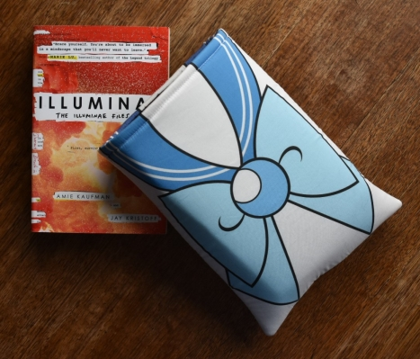 Sailor Mercury book sleeve with Illuminae by Amie Kaufman and Jay Kristoff
