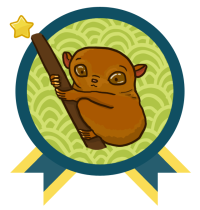 YARC Badge: Read 10 books and get the Tarsier