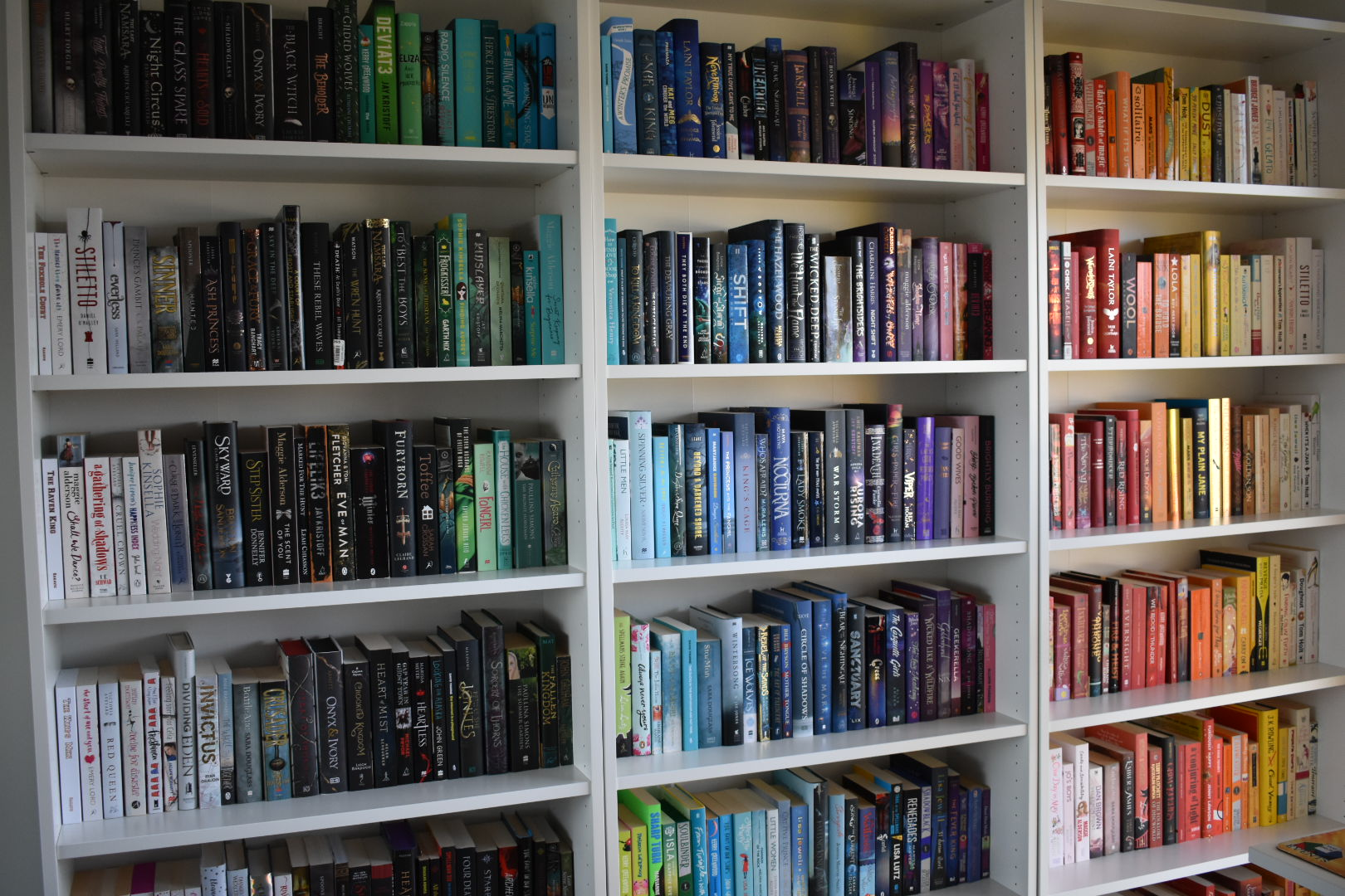 A photo of some of my bookshelves.