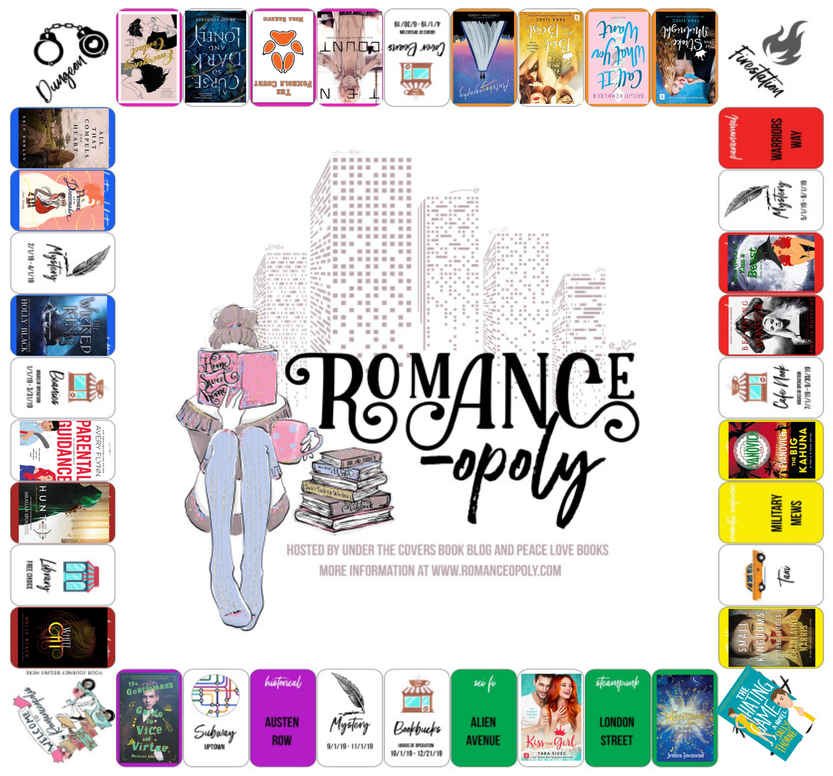 August progress against the Romance-opoly board game