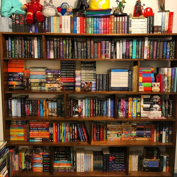 Bookshelf circa June 2018