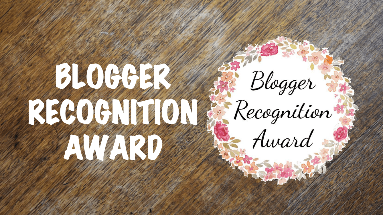 Banner: Blogger Recognition Award