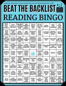 Beat the Backlist Epic bingo 2020